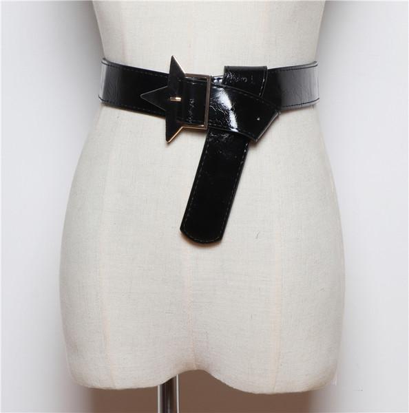 Дамски колан от еко кожа в черен, бял и зелен цвят