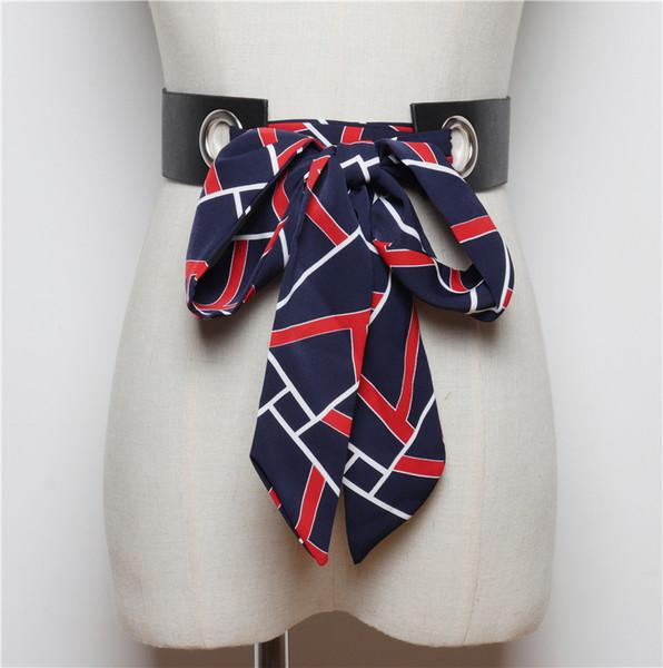 Нов модел дамски колан с цветна панделка