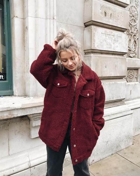 Модерно дамско дълго палто с джоб и класическа яка в няколко цвята