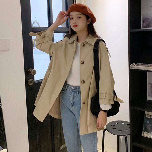 Дамско тънко палто - широк модел