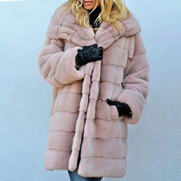 Νέο μοντέλο γυναικείου μακρύ  παλτό μεκουκούλα σε ροζ, μαύρο και γκρι χρώμα