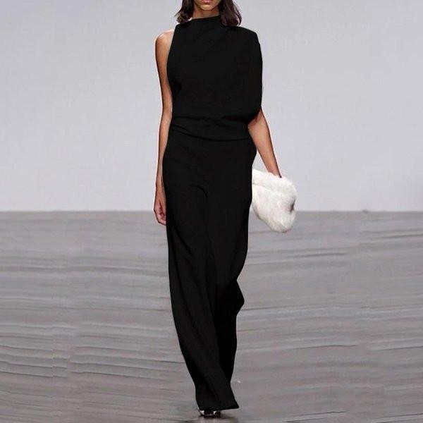 Μοντέρνα γυναικεία μακρύ ολόσωμη φόρμα  ευρύ μοντέλο σε τρία χρώματα