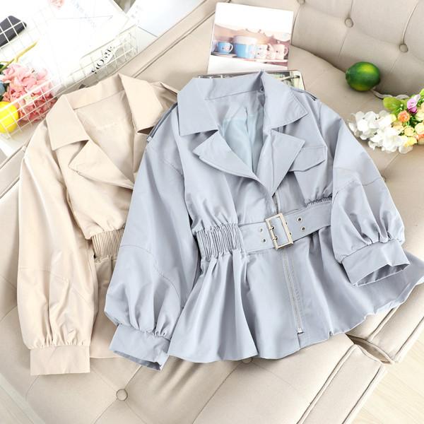 Нов модел дамско палто с колан в няколко цвята