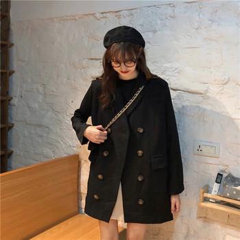 Дамско модерно дълго карирано палто в два цвята