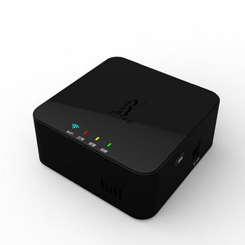 Wi-fi детектор за изтичане на газ с гласова аларма в черен цвят