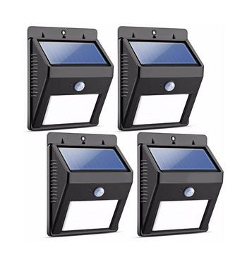 Домашна захранваща соларна лампа със сензор за движение, модел i8