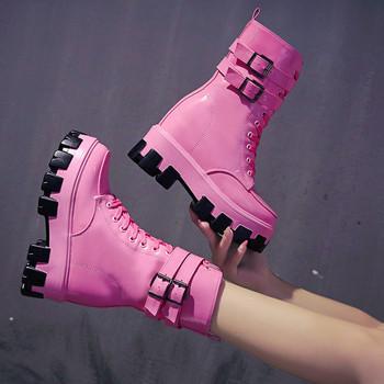 Γυναικείες μπότες με ψηλή πλατφόρμα σε διάφορα χρώματα