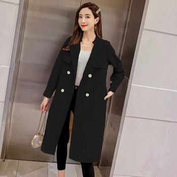 Дамско модерно тънко палто в два цвята
