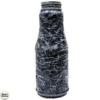 Сувенир - Ваза за цветя - декупаж - 26 см. тъмно сребро. Модел DM-9044