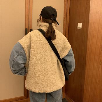 Ежедневно дамско меко палто широк модел