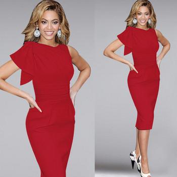 Голям размер елегантна дамска рокля в  няколко цвята