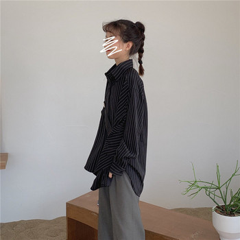 Дамска ежедневна риза в два цвята със странично закопчаване
