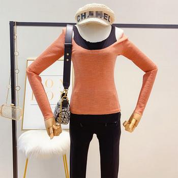 Дамска  блуза с дълъг ръкав в няколко цвята