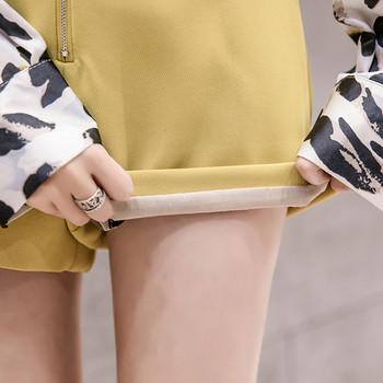 Модерни дамски къси панталони в четири цвята с цип
