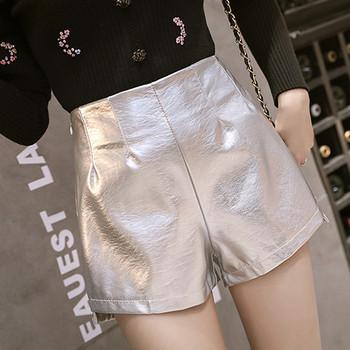 Дамски актуални къси панталони с висока талия в два цвята