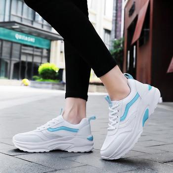 Ежедневни  дамски маратонки с връзки в три цвята