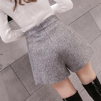 Стилни дамски къси панталони с висока талия в три цвята
