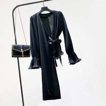 Нов модел дамска риза асиметричен модел в бял и черен цвят