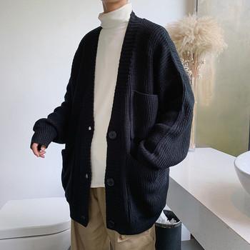 Ежедневна мъжка жилетка с джобове в черен, жълт, син и лилав цвят