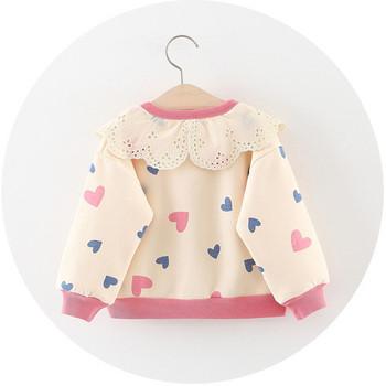 Нов модел бебешка жилетка с копчета и сърца