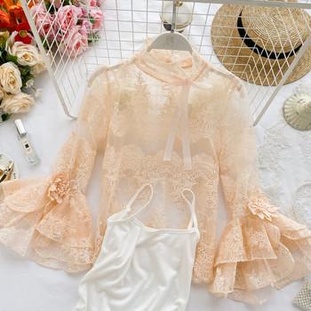 Дамска  дантелена блуза в няколко цвята