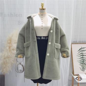 Дълго дамско меко палто с джобове в различни цветове