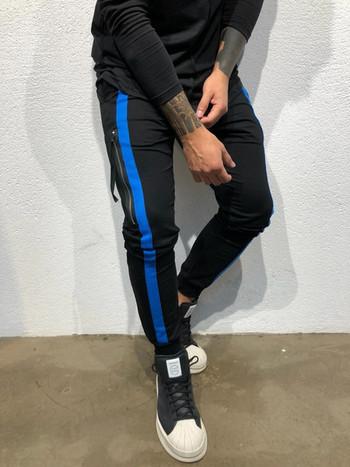 Ежедневен мъжки панталон с кант и цип в няколко цвята