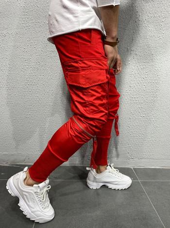 Ежедневни мъжки панталони с цип в  джобове