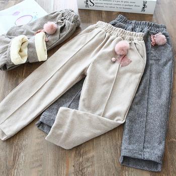 Нов модел детски панталон за момичета с джобове