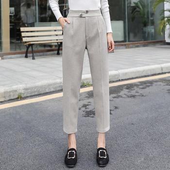 Нов модел дамски панталон в черен и бежов цвят