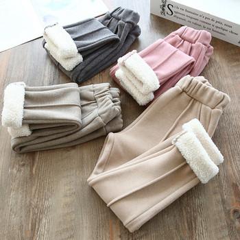 Μοντέρνο παιδικό παντελόνι με απαλή επένδυση για κορίτσια σε διάφορα χρώματα