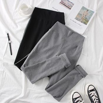 Нов модел дамски клин с кант в сив и черен цвят
