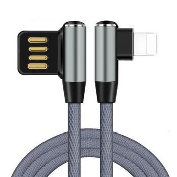 USB кабел за мобилни устройства TYPE Lightning в сив цвят