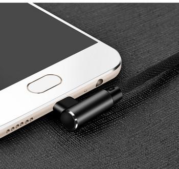 Καλώδιο USB για κινητές συσκευές TYPE-C σε μαύρο χρώμα