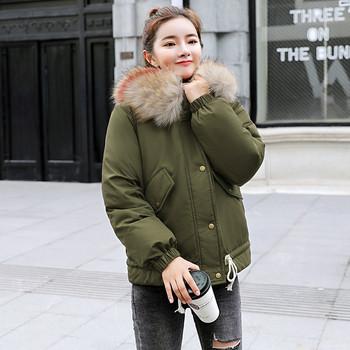 Νέο μοντέλο χειμωνιάτικο γυναικείο μπουφάν με τσέπες και κάτω σε πέντε χρώματα