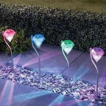 Комплект от четири броя LED лампи във формата на диамант