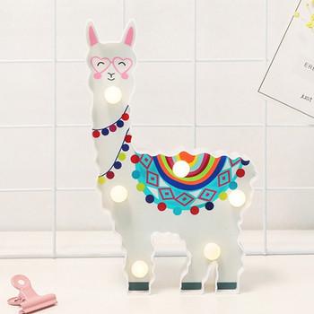 Декоративна LED лампа във формата на лама