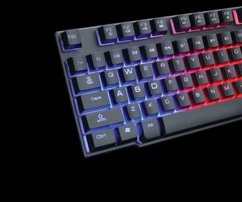 R8 комплект геймърска клавиатура и мишка с подсветка