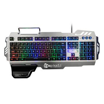 Алуминиева водоустойчива геймърска клавиатура с поставка за телефон