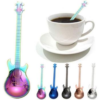 Лъжица от неръждаема стомана с дизайн на китара
