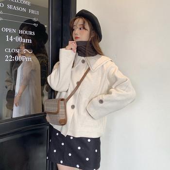 Дамско ежедневно късо тънко палто в два цвята