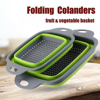 Кухненска сгъваема цедка за измиване на плодове и зеленчуци