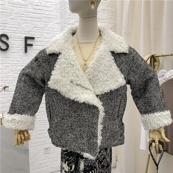 Актуално дамско палто широк модел с джобове в два цвята