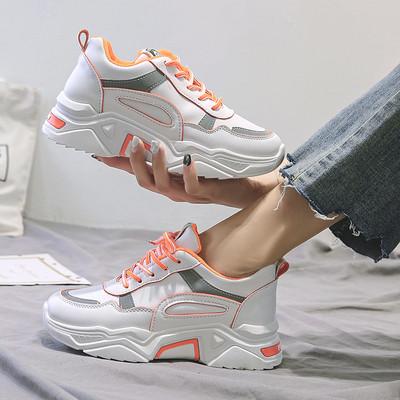 НОВ модел дамски маратонки с връзки и груба подметка в три цвята