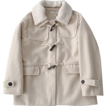 Ежедневно дамско палто с мека яка и джобове в бял и черен цвят
