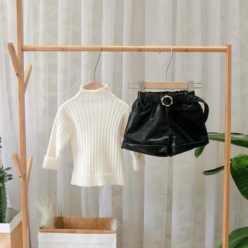 Нов модел детски къси панталони за момичета в черен,зелен и бежов цвят