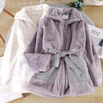 Ежедневно дамско палто с цип и колан в четири цвята