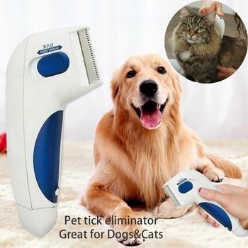 Електрическа четка за премахване на паразити подходяща за кучета и котки с размери 240 * 170 * 30мм