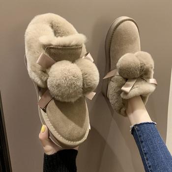 Casual γυναικείες χειμερινές μπότες με απαλή επένδυση σε διάφορα χρώματα