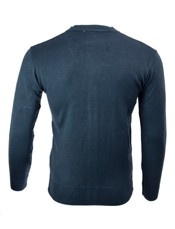 Плетена мъжка жилетка в Синьо